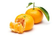 Mandarin Orange Isolated On Wh...