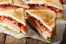 Layer Club Sandwich With Turke...