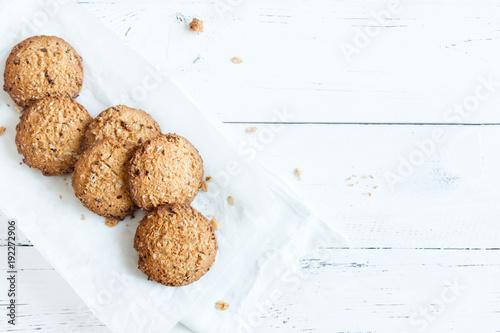 Fond de hotte en verre imprimé Biscuit oatmeal cookies