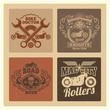 Vintage grunge motorcycle label