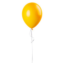 Yellow Balloon Isolated On A W...