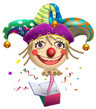 Funny Clown Buffoon Head To Ju...