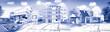 Leinwanddruck Bild - Concept immobilier et construction de maison