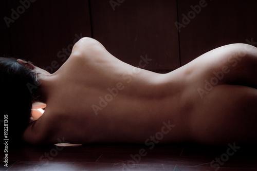 Beautiful nude woman back