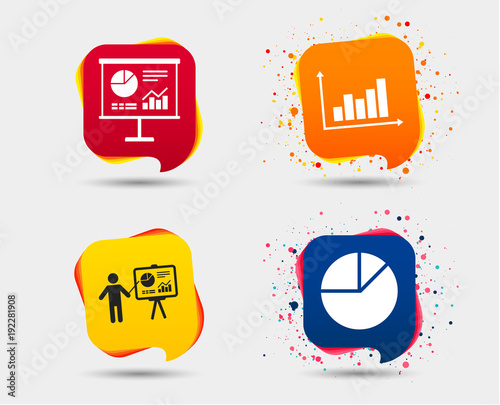 Diagram Graph Pie Chart Icon Presentation Billboard Symbol Supply
