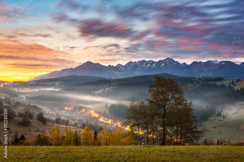 Fototapety, obrazy: Tatra mountains at autumn from village Gliczarow Gorny, Poland
