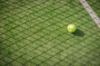 canvas print picture - Paddle tennis court and net with a ball
