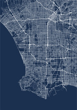 Vector Map Of The City Of Los ...