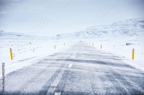 Foto op Plexiglas Arctica iceland nature, winter travel photo in snow, adventure, trip, hiking, mountains.