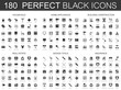 Household, home appliances, building construction, real estate, design tools, insurance black classic icon set.