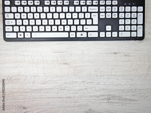 Fototapeta Work in the office at the desk with a keyboard obraz