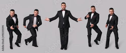 Valokuvatapetti Handsome man in black tuxedo