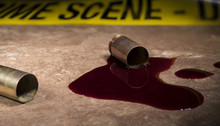 Crime Scene Tape Behind Empty ...