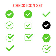 Check Icon Set , Approved Symb...