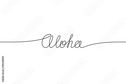 ALOHA handwritten inscription Canvas Print