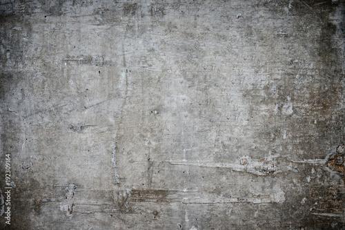 Fototapeta Old grungy texture, grey concrete wall, copy space obraz na płótnie
