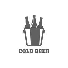 Beer Bottle Logo. Cold Beer Ic...