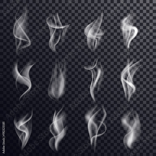 Valokuva  Hookah smoke and gray steam, vapor background
