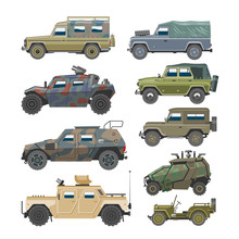 Military Vehicle Vector Army C...