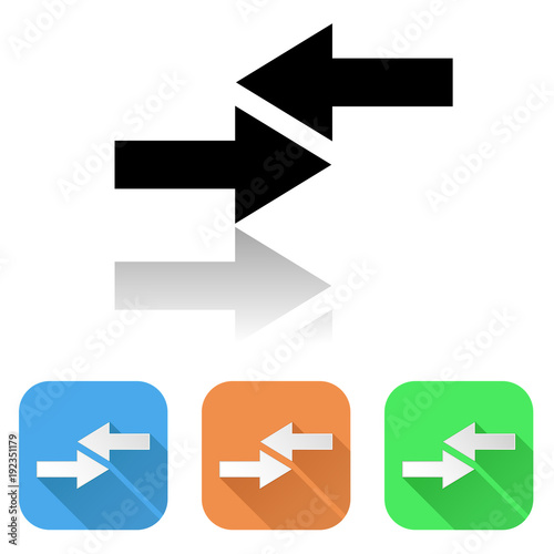 Arrows Icon Colored Set Of Right And Left Arrow Symbols Buy This