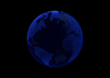Blue Point World Globe Map On ...