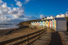 Beach Huts Over Summerleaze Be...