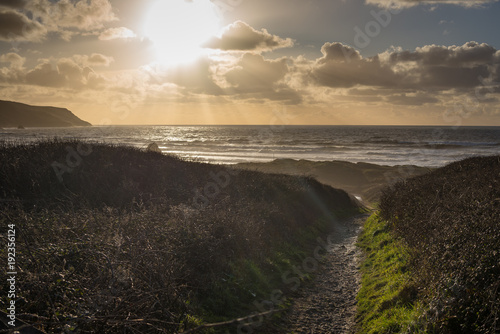 Photo  Path to Widemouth bay in Bude, Cornwall