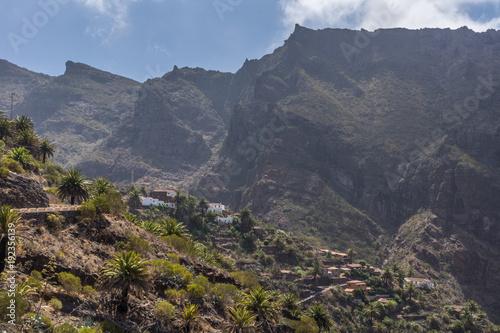 Staande foto Vulkaan Die schroffen Felsen in der Masca-Schlucht im Teno-Gebirge