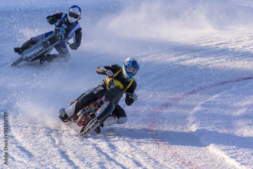 Fotografía Qualifying race for Swedish championship in ice speedway