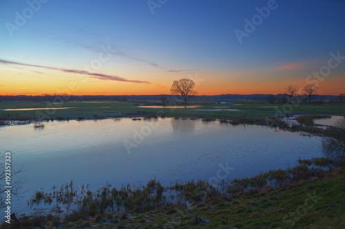 Zdjęcie XXL Zachód słońca nad Predöhlsau