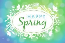 Soft Focus Happy Spring Vector Illustration 1