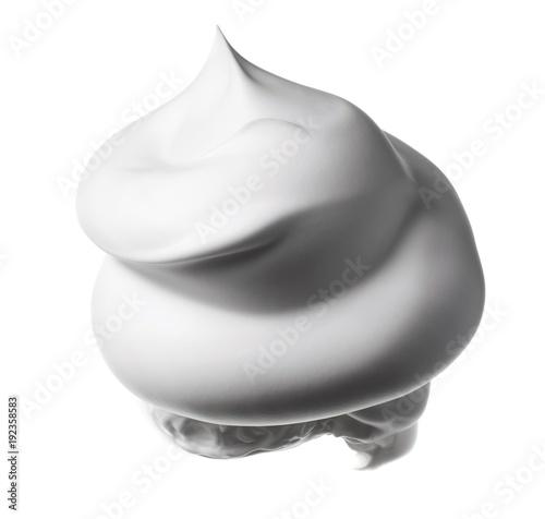 Shaving cream lotion on white background