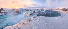 Godafoss Frozen Waterfall Duri...