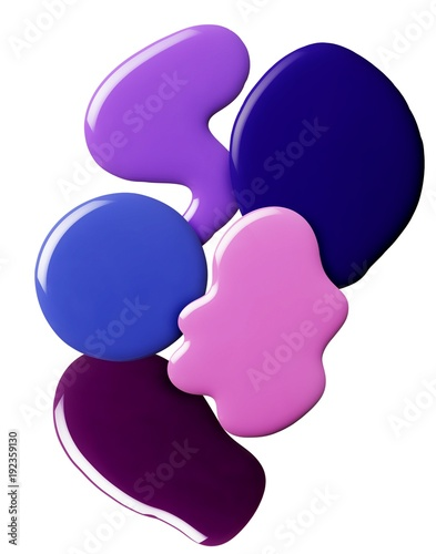 Design of liquid cosmetics on white background