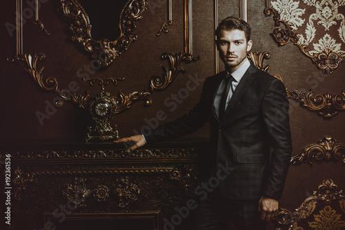 Fotografie, Obraz  man in luxurious apartments
