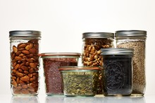 Jars Of Nuts And Seeds