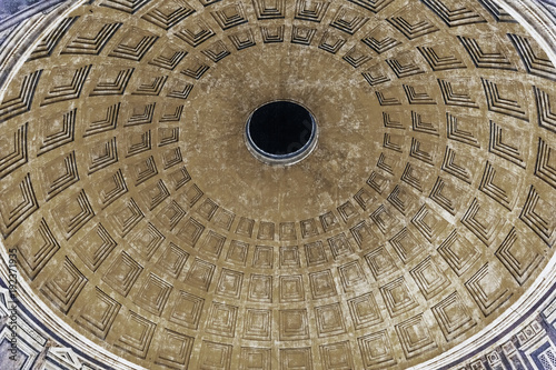 Fotografie, Obraz  Dome Oculus Night Pantheon Rome Italy
