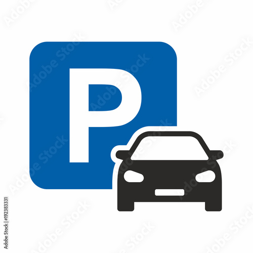 Fotografiet Car parking icon