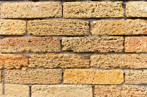 . Sandstone lime brick texture  Seamless pattern    Buy this stock