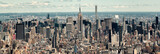 Fototapeta Nowy Jork - Panoramic view of midtown Manhattan in New York City
