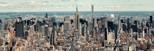 Deurstickers New York Panoramic view of midtown Manhattan in New York City