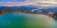 Lake Eildon At Sunset - Aerial Panorama