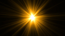 Glowing Abstract Sun Burst Wit...