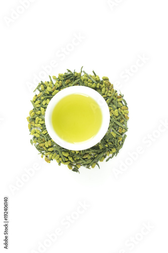 Fotografie, Obraz  Matcha Genmaicha - Japanese green tea with roasted rice and green tea powder