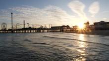 Panning Galveston Pier Silhoue...