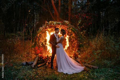 Fotografie, Obraz  Wedding. Night wedding ceremony.