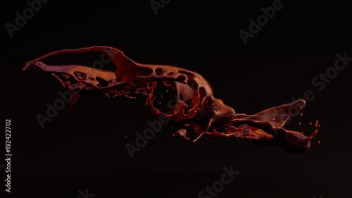 Fotografia, Obraz  Runny Chocolate Splash 3d illustration