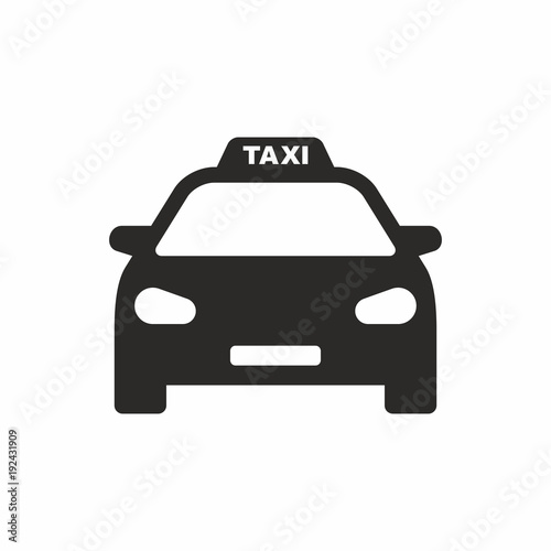 Canvas Print Taxi icon