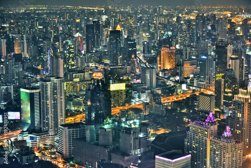 In de dag Bangkok View of the city of Bangkok, Thailand after sunset