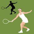 tennis player vector illustration flat style front